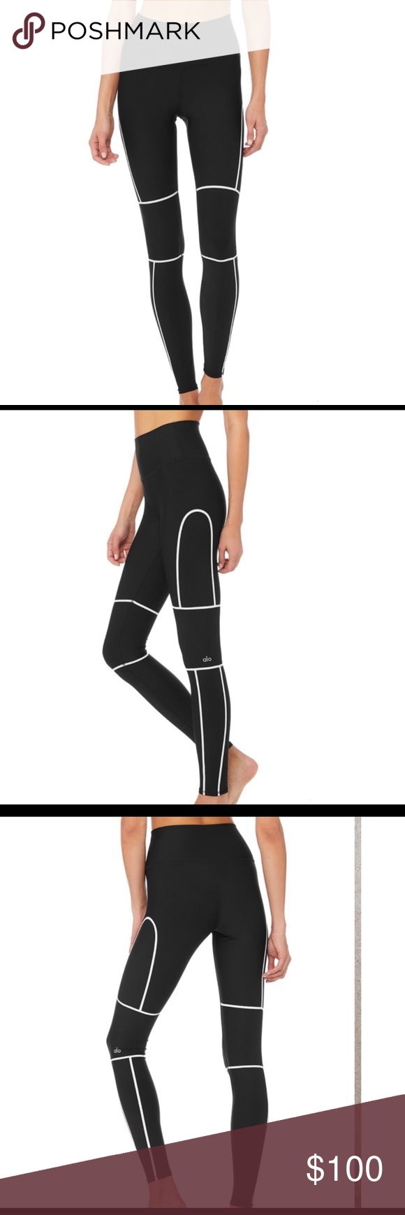 9537a5de55 🌔XS Alo Yoga Halftime Leggings 🌔 New with tags, never been worn. High  waisted and full length. Super cute and comfortable! ALO Yoga Pants Leggings