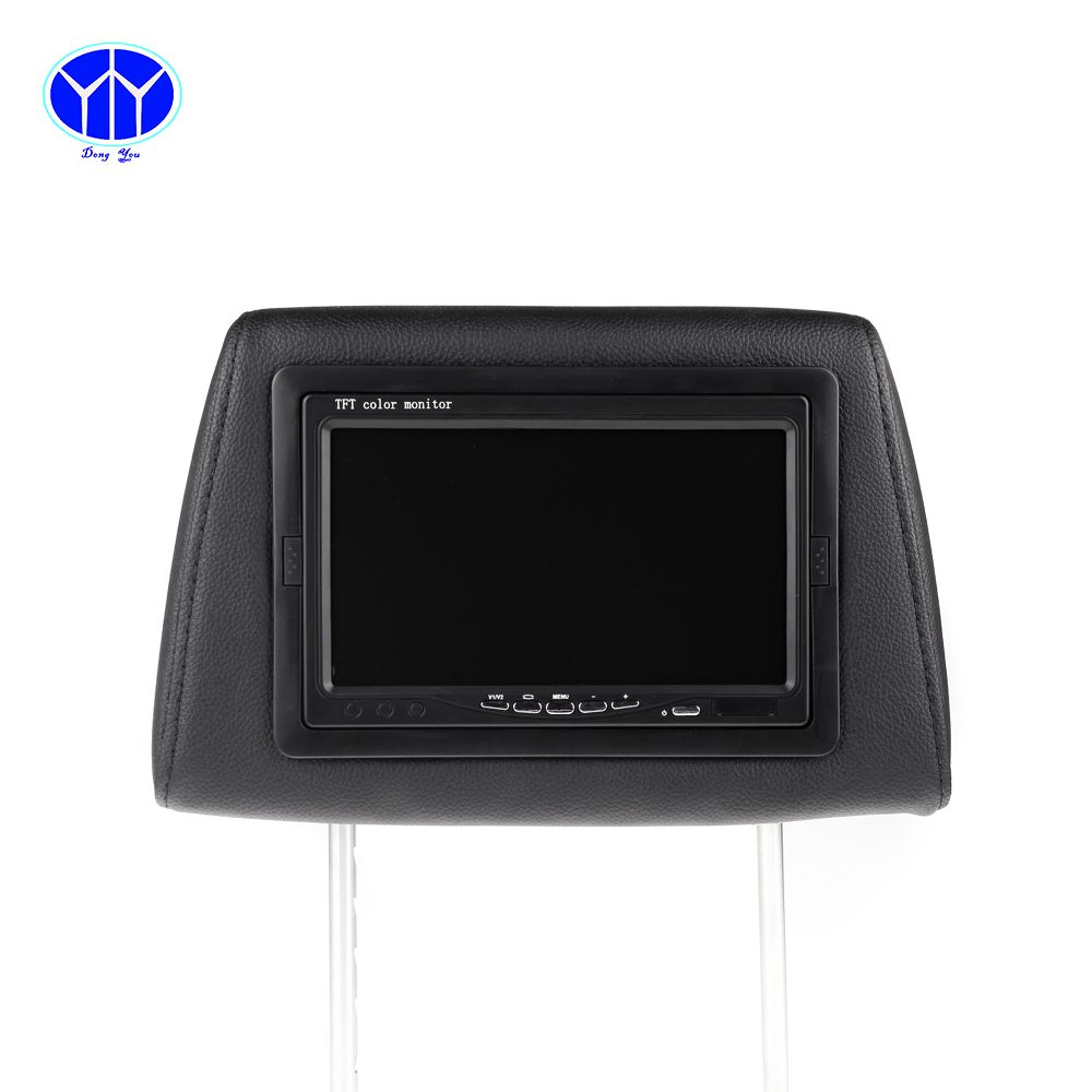 2PCS 7 Inch Car Headrest DVD Player Monitor LCD Screen Display Game Support FM USB SD Remote Controller Auto Head Rest