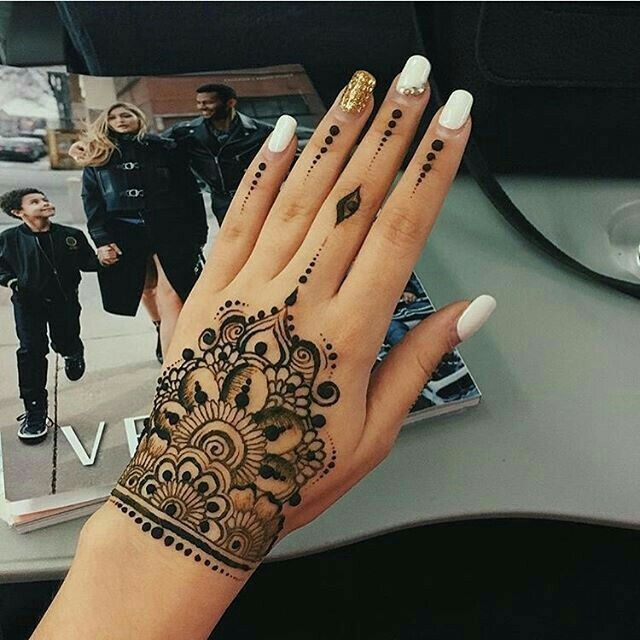 Black henna.. FOR MORE *** FOLLOW ME AT PINTEREST @ ANAM SIDDIQUI OR ...