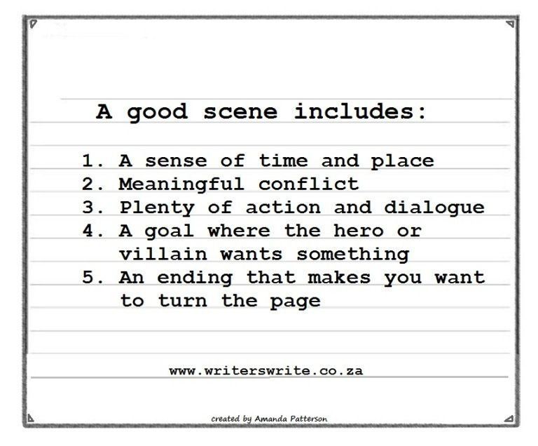 Make A Scene The Five Elements Of A Good Scene Writers Write