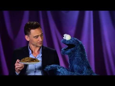 I have never actually seen this before but it is Super Adorable. Cookie Monster learns a lesson from Tom Hiddleston about delayed gratification. And 1:38!!!! Hahah ugh he's so cute. I love him.