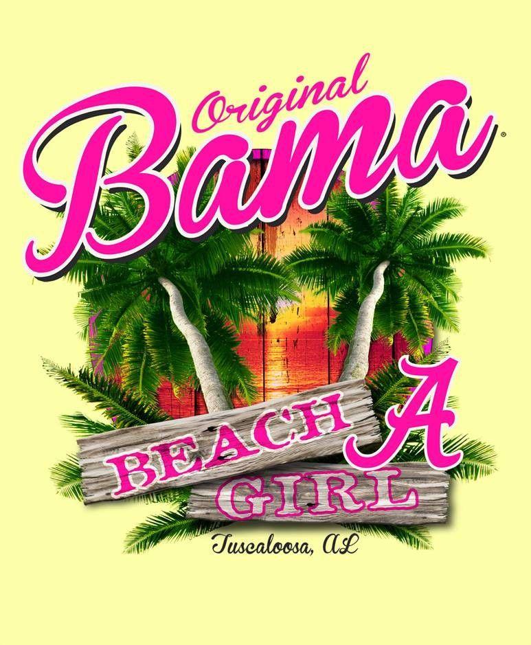 Alabama Crimson Bama Beach Ss