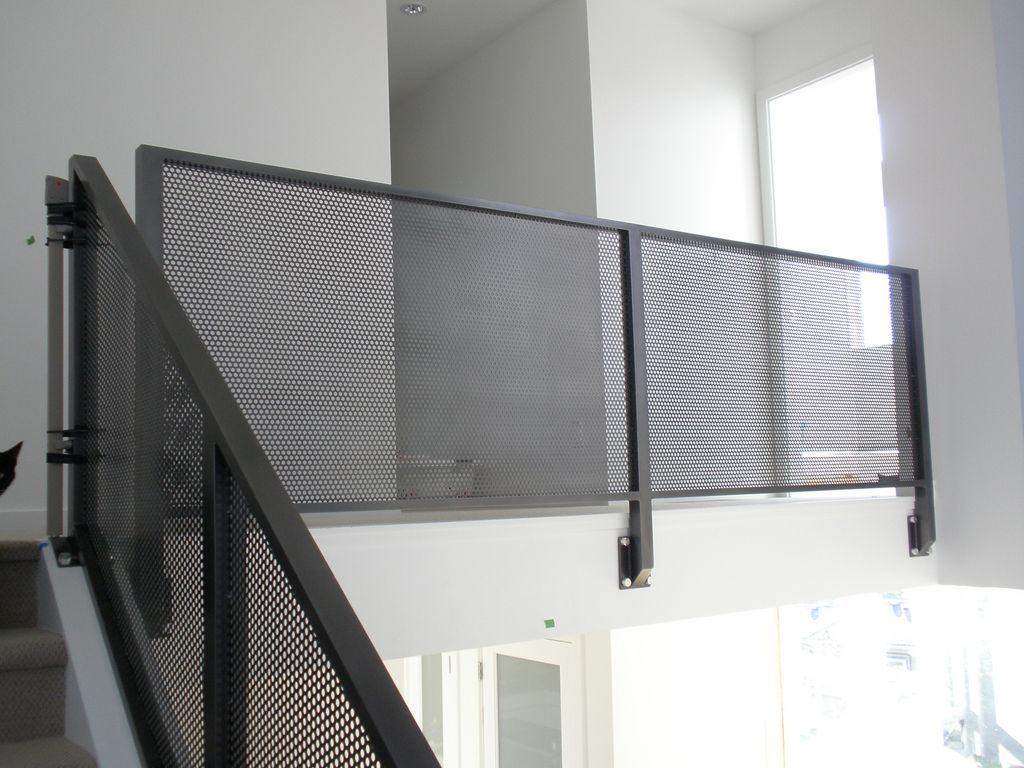 perforated metal railing exterior | B A N K S S T | Pinterest ...