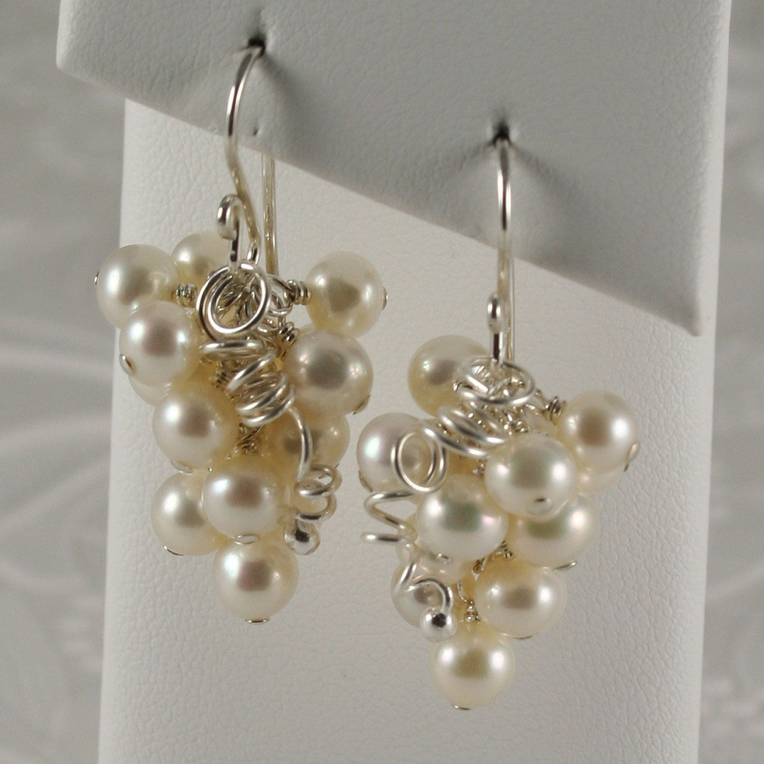 white pearl grape cluster earrings; teddi hosman jewelry - google