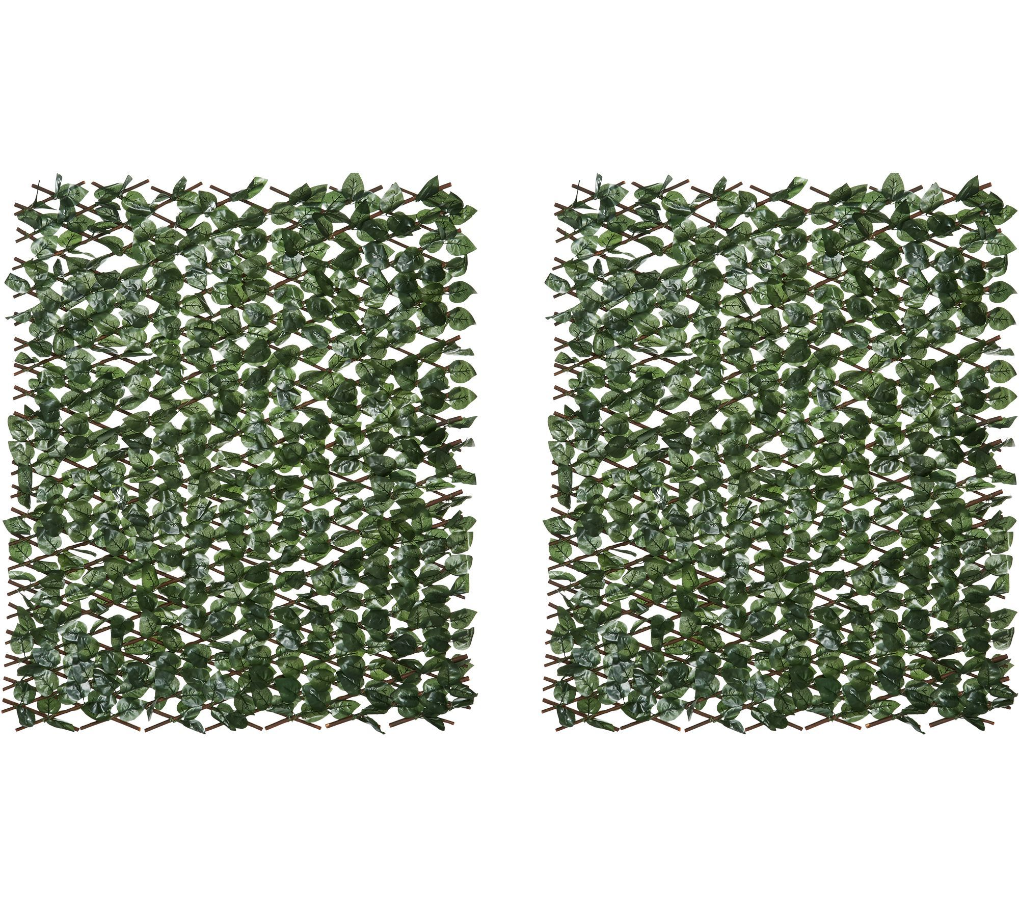 Compass Home Set of 2 Expandable Faux Ivy Privacy Fences ...