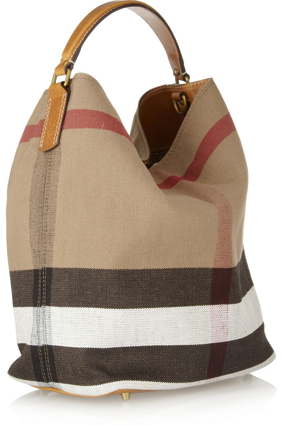 Burberry Shoes   Accessories   Susanna checked canvas hobo bag ... d8d4f1b152