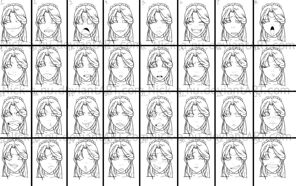 Anime Face Expressions Ayla facial expressions Anime