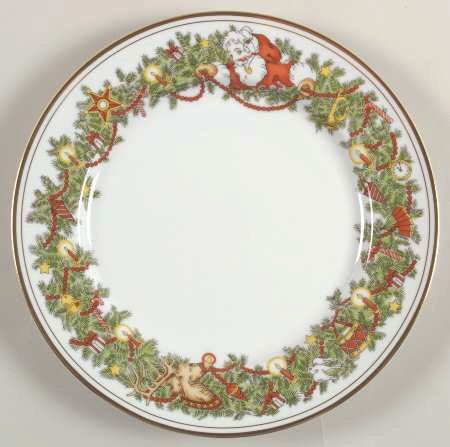 Fitz and Floyd ST NICHOLAS Dinner Plate SALE by CottageintheOaks