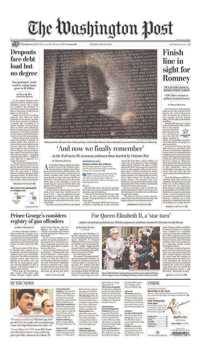 May 29, 2012. @Casey Washington Post from Washington, District of Columbia.