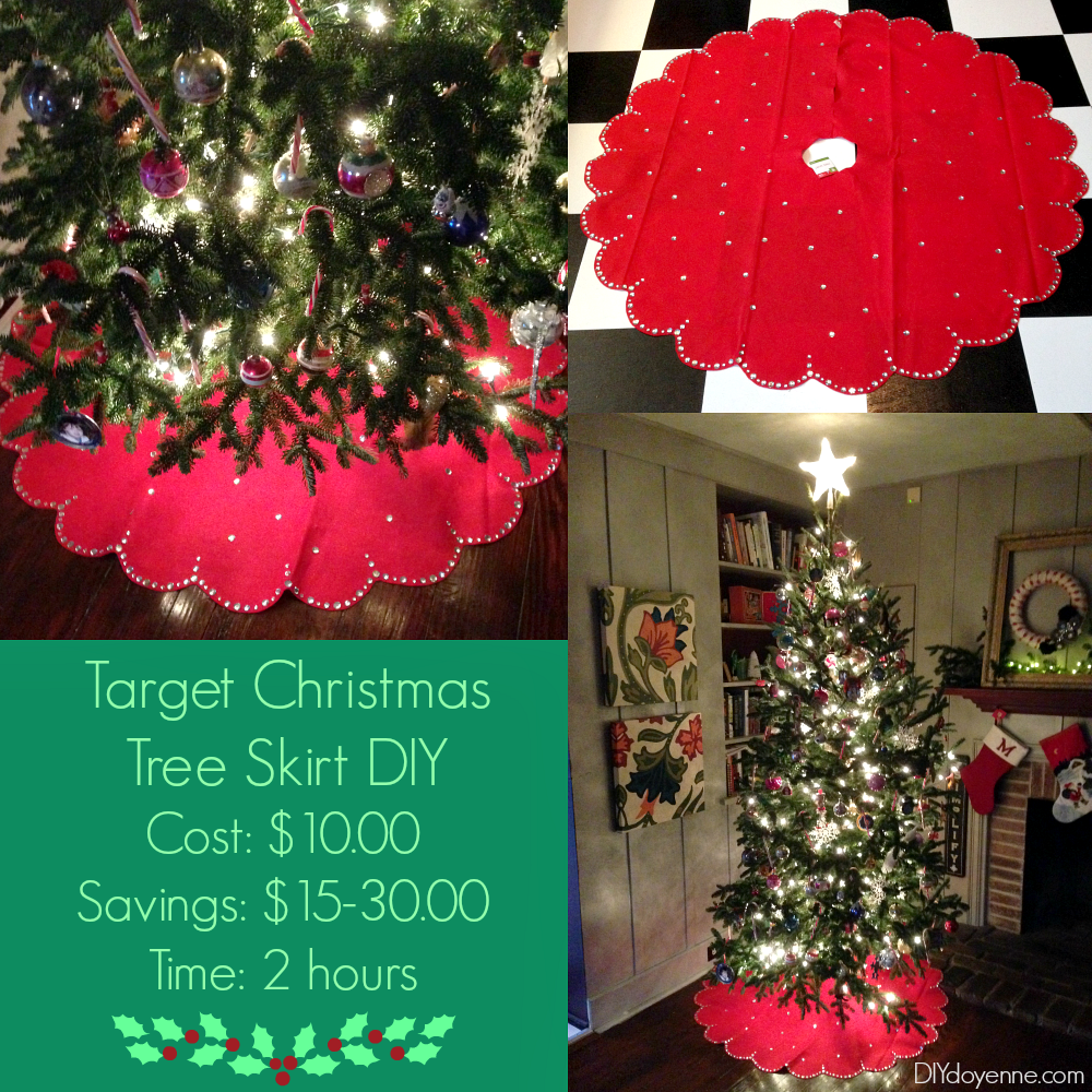 Target Christmas Tree Skirt DIY hack idea, turn a five ...