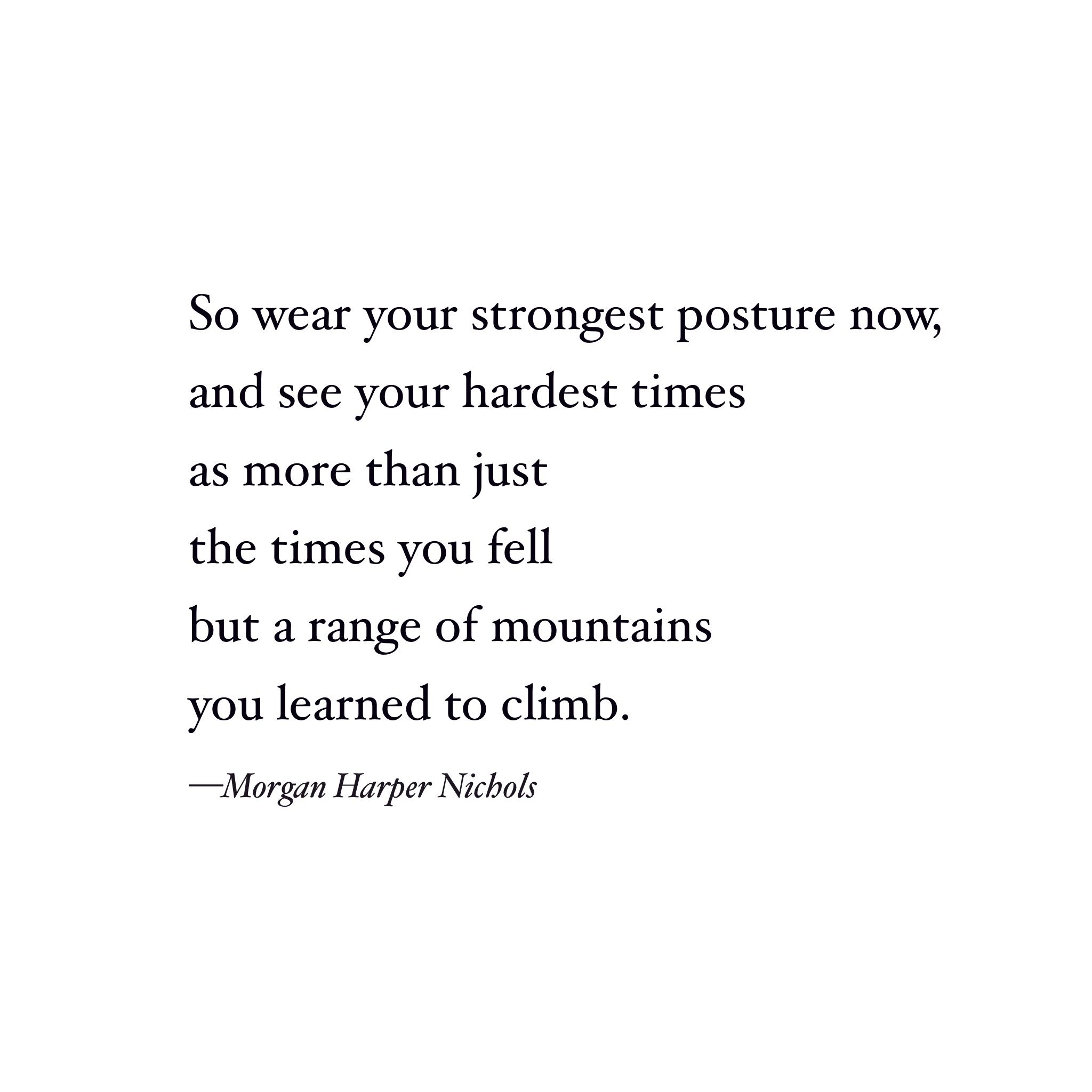 Poem On Strength Morgan Harper Nichols Quote Strength Quote