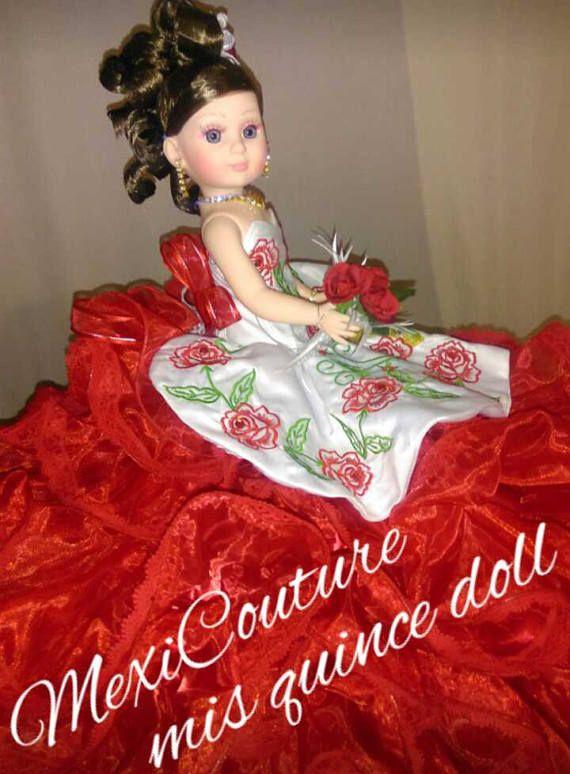 8c0de605573 Precious moments last quinceañeras doll. Wearing big puffy dress. Measures  20 tall (50 cms).... Tradicional última muñeca de 15 años.