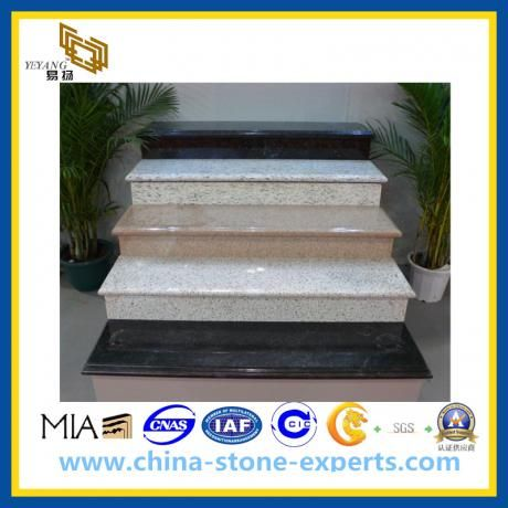 Black/White/Grey Granite Steps Stair For Interior And Exterior(YQG-GS1023)