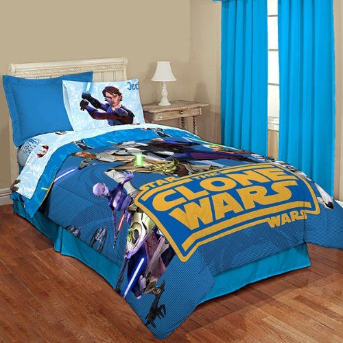 Star Wars Clone Wars Twin Comforter Set With Twin Sheet Set From