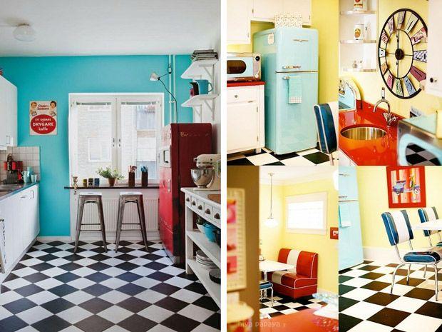 La cucina in stile anni 50 | Interior Design | Pinterest | Retro ...