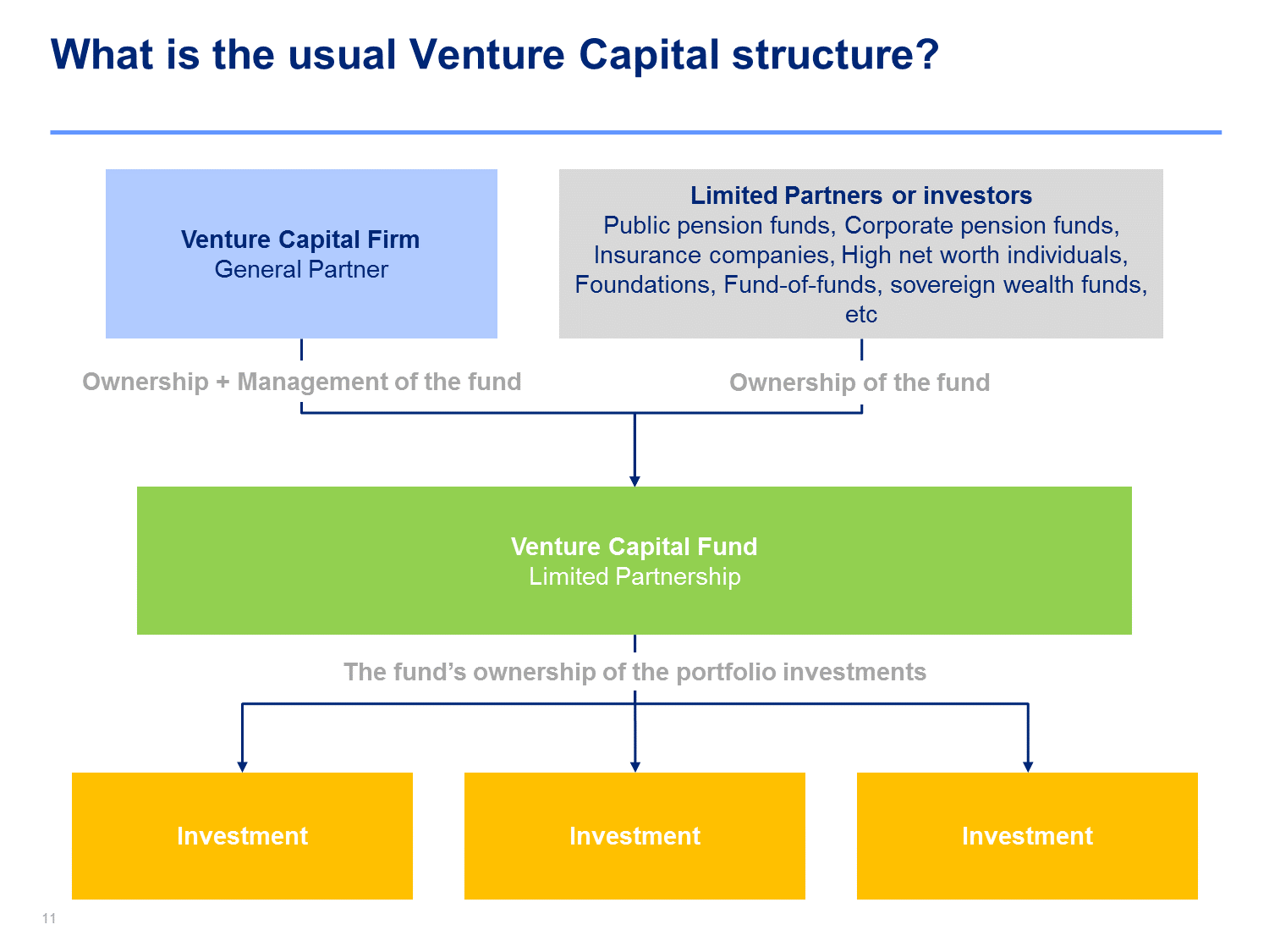 Venture Capitalist Training Venture Capital Cash Flow Statement
