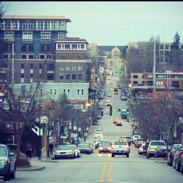 Downtown Fayetteville Arkansas Ozark Mountains Fayetteville
