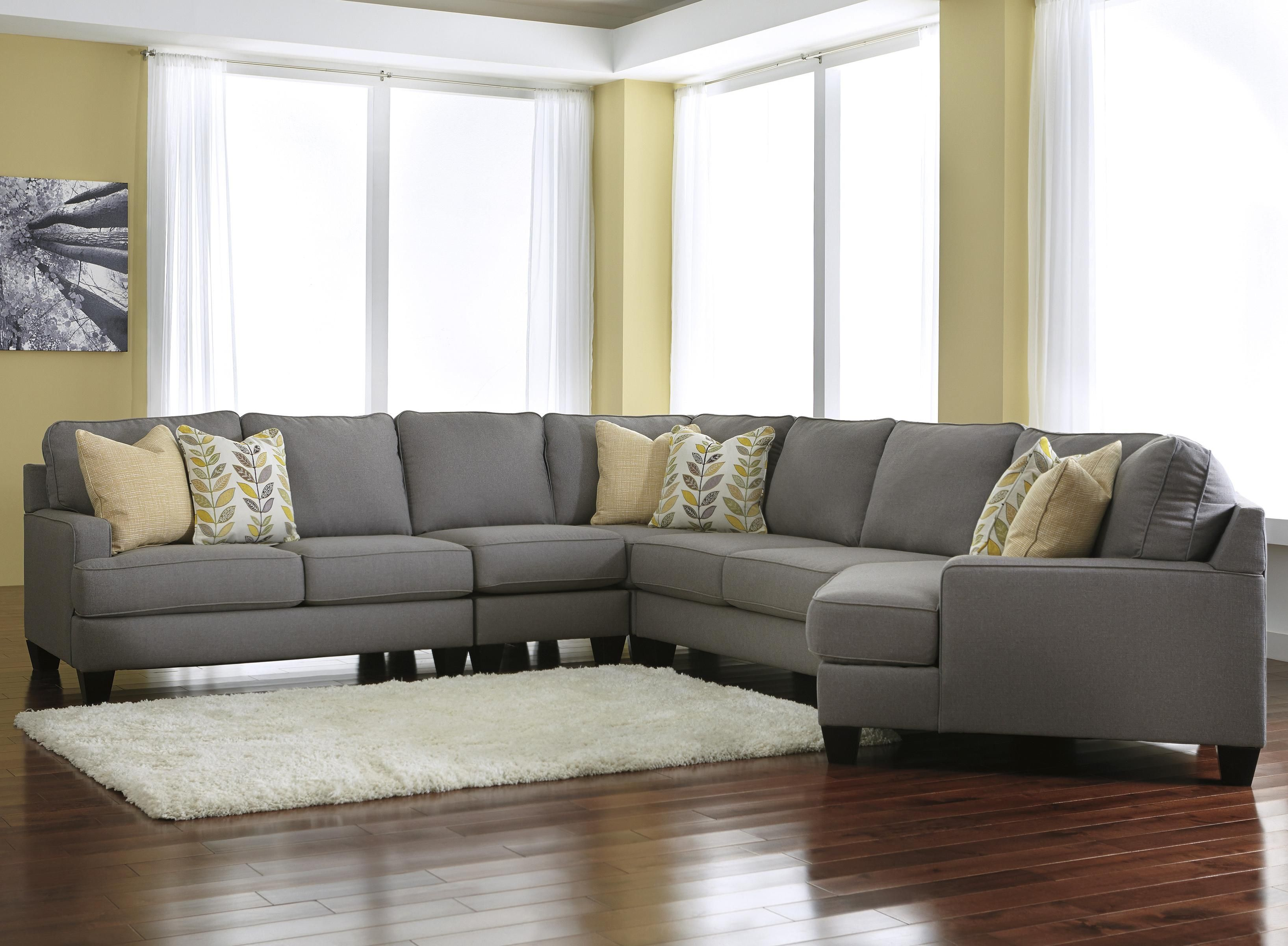 Living Room Designs With Sectionals Adorable Chamberly  Alloy Modern 5Piece Sectional Sofa With Right Cuddler Design Inspiration