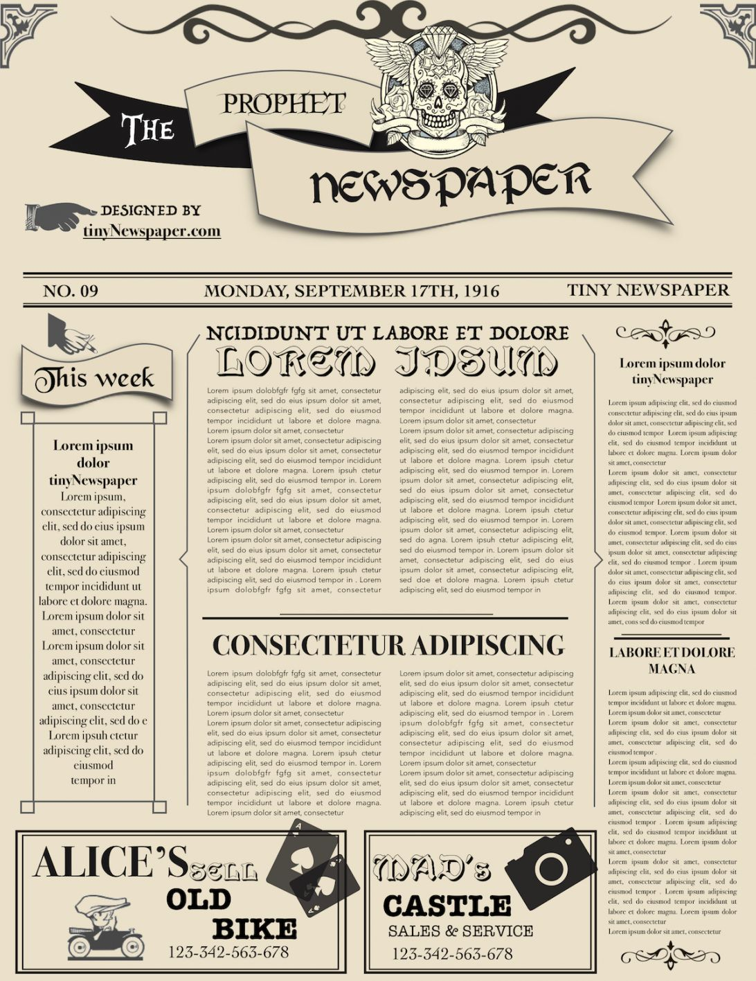 Old Newspaper Template Word Free Download Google Docs Style Within