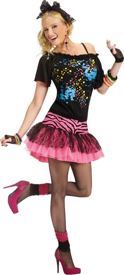 Adult Awesome 80s Pop Star Costume - Party City  sc 1 st  Pinterest & Adult Awesome 80s Pop Star Costume - Party City | 80s inspiration ...