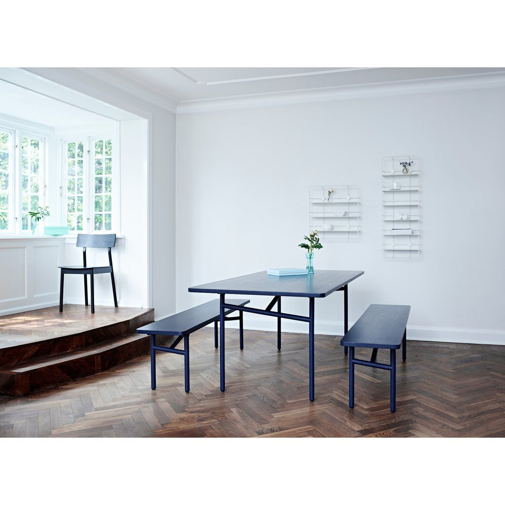 Diagonal Bench Metal Dining Table Furniture Dining Table