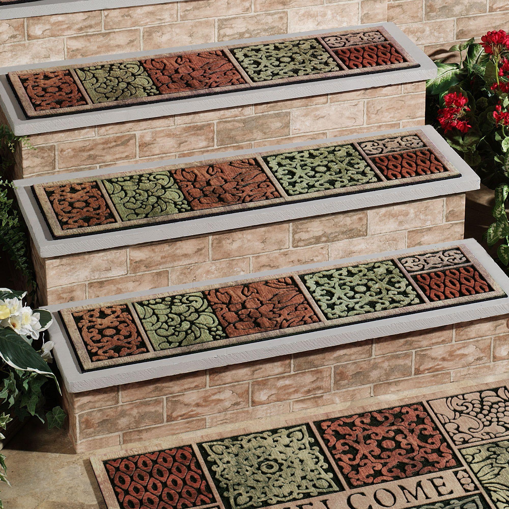 Outdoor Stair Treads Stair Tread Rugs Stair Treads Carpet | Outdoor Carpet Stair Treads | Stair Runner | Rug | Stair Nosing | Slip Resistant | Flooring