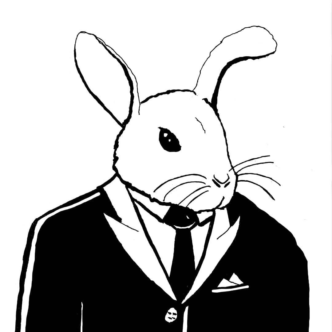 🐰Mr. Bunny🐰 #illustration #fineliner #drawing #pen #sketch #doodle #artoninstagram #art #artstagram #blackwork #dark #blackandwhite #myart #tattoodesign #sketching #kunst #danskkunst #danishartist #bunny #rabbit #kunstner