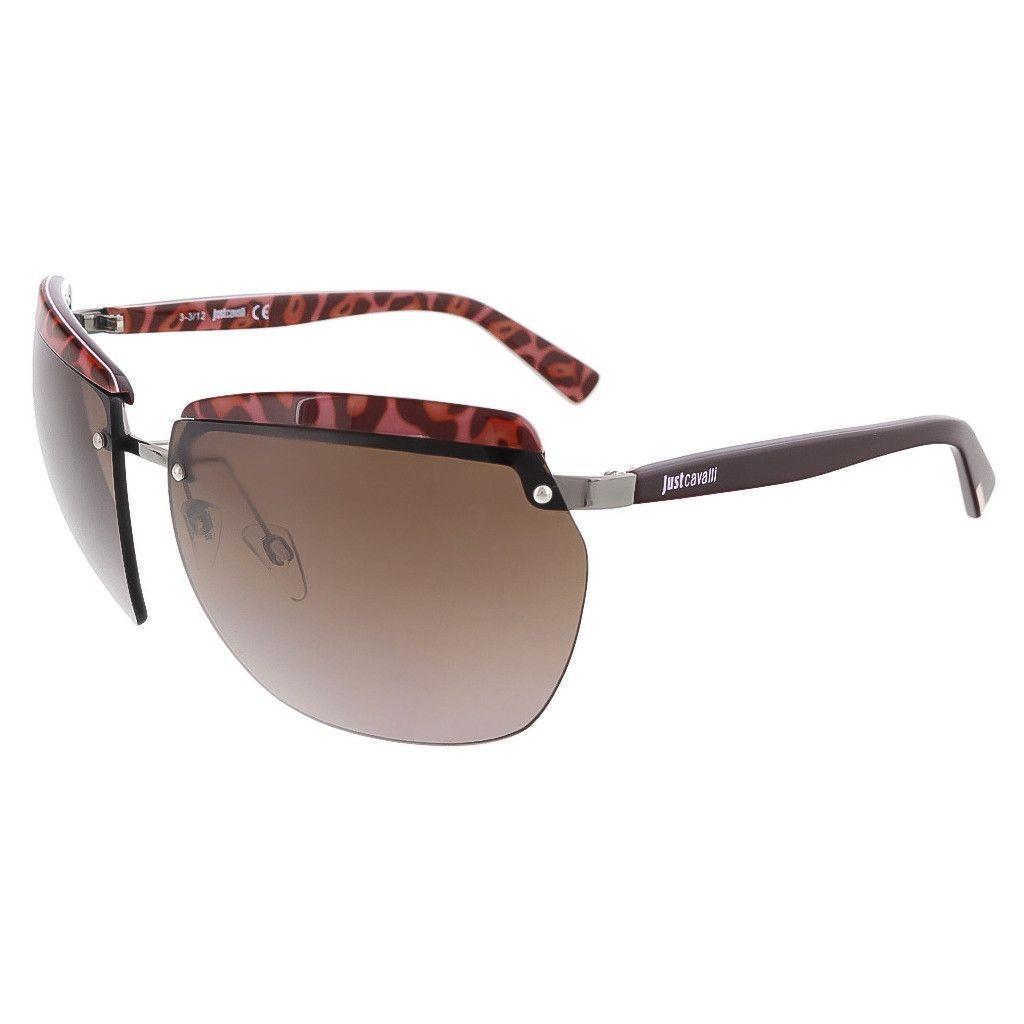 Just Cavalli Brown Rimless Square Sunglasses
