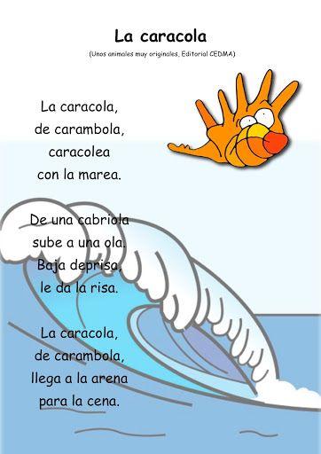 Poemas Infantiles Con Dibujos Para Niños Elementary Spanish Lessons Spanish Kids Bilingual Education