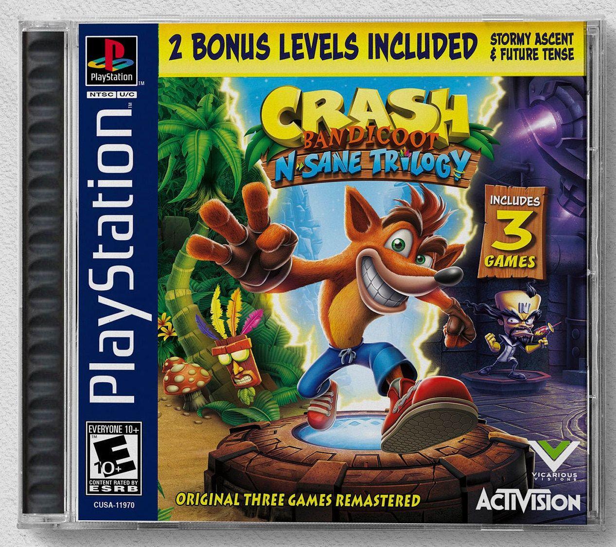 Crash Bandicoot N Sane Trilogy Ps4 Custom Ps1 Inspired Etsy Bandicoot Crash Bandicoot Trilogy