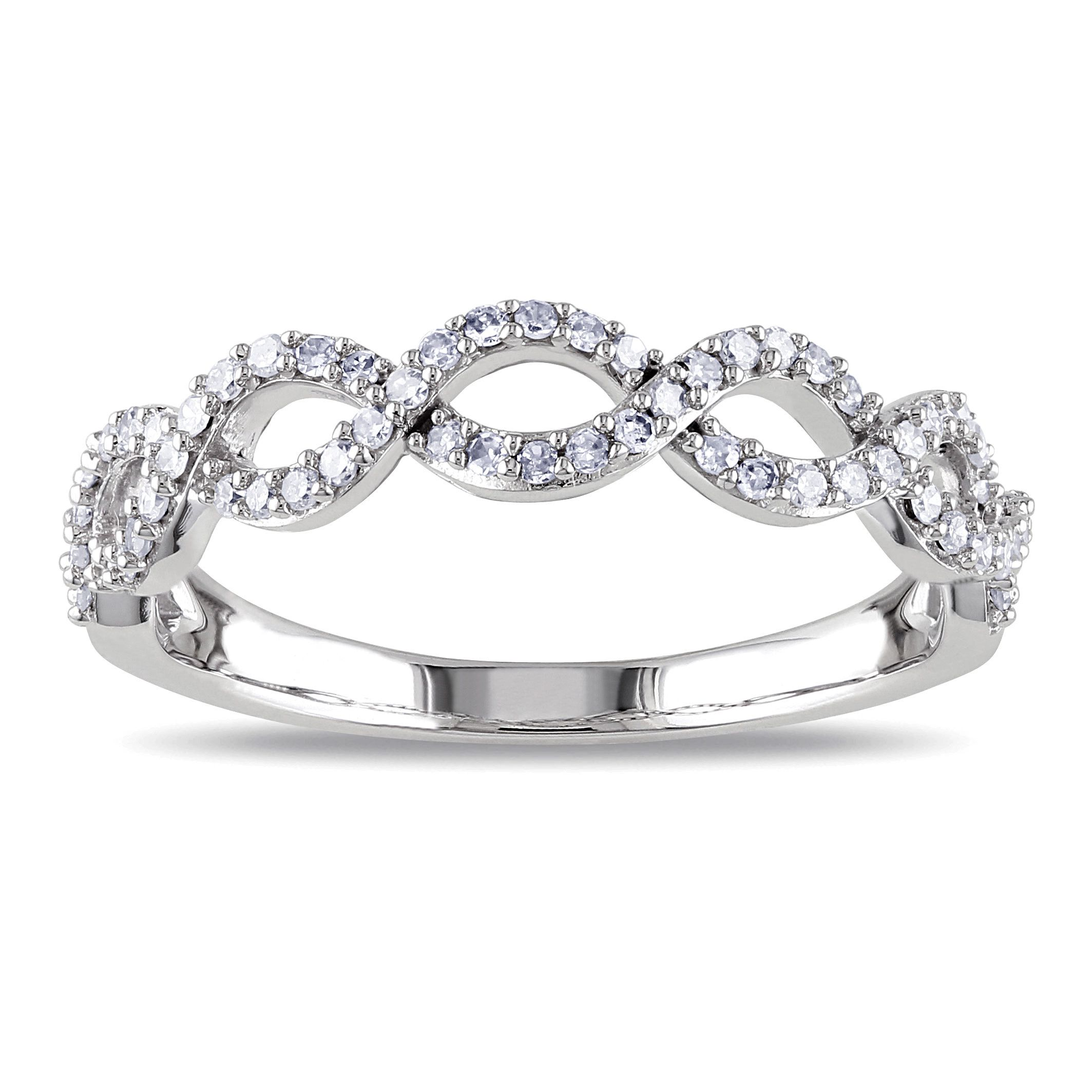 Miadora k white gold ct tdw diamond infinity ring by miadora