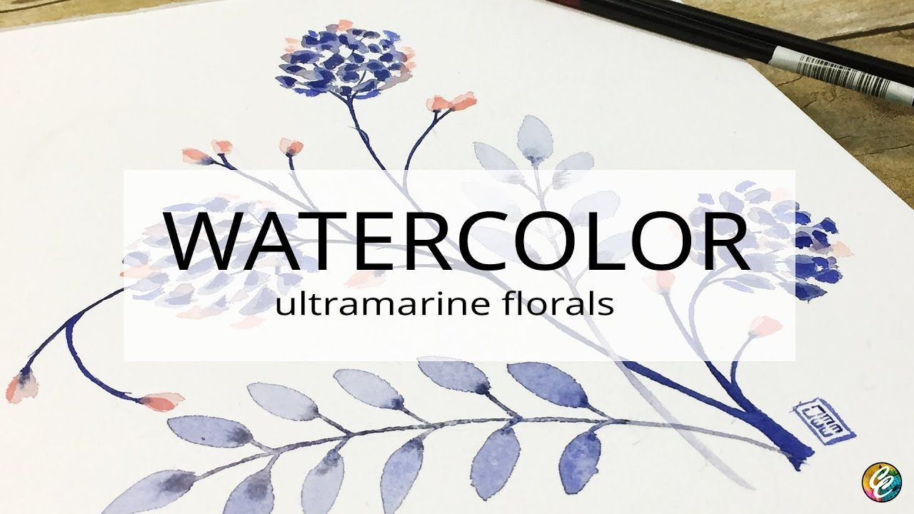 Watercolor Painting Almost Florals Omatic Florals A Video