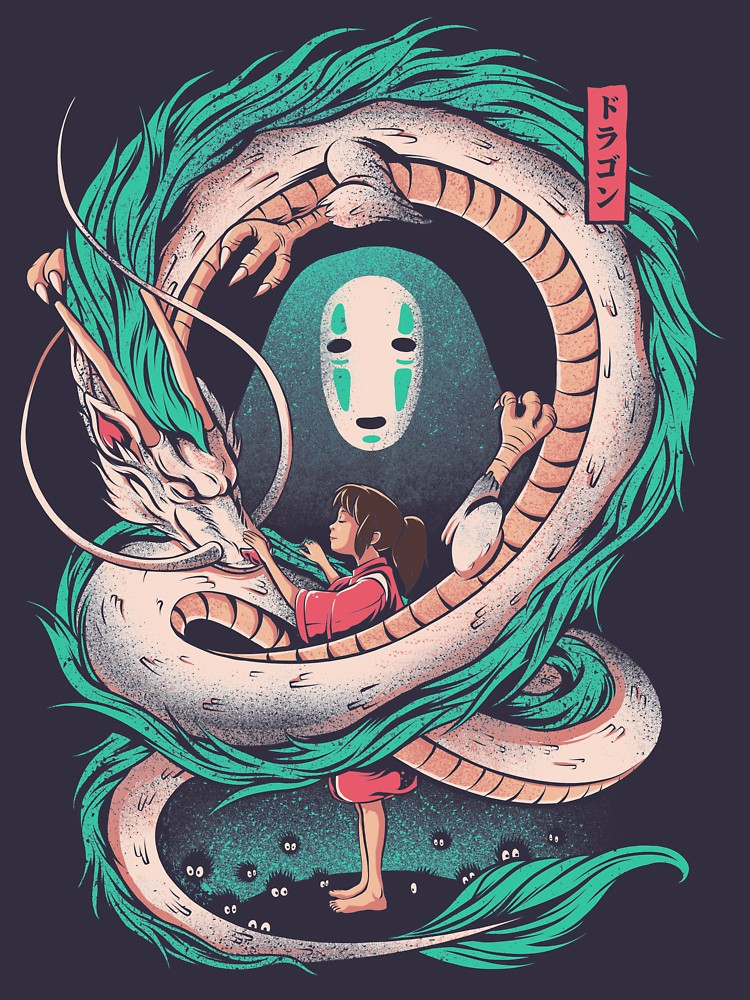 Photo of 'The girl and the dragon' T-Shirt by Ilustrata Design