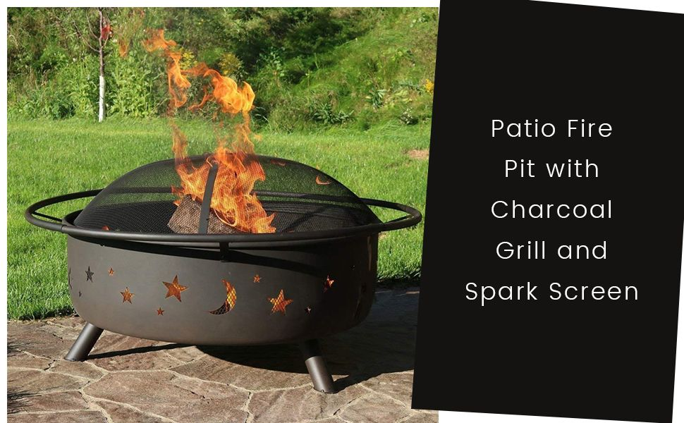70 off wood burning fire pit w charcoal grill spark