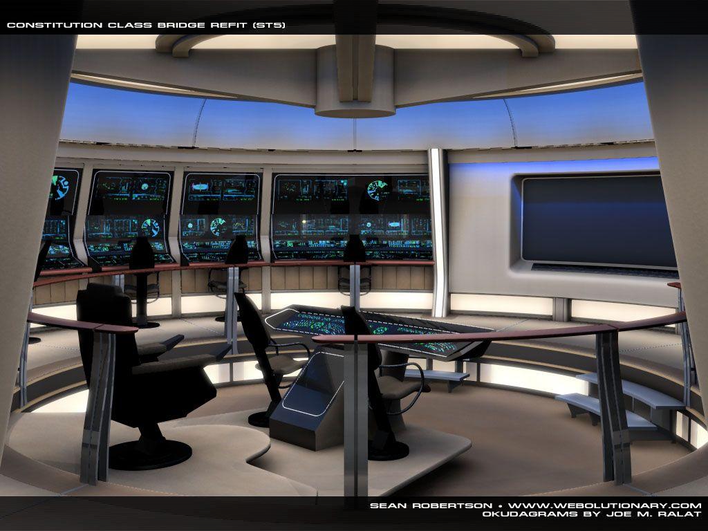 Bridge of Constitutionclass refit starship Star Trek