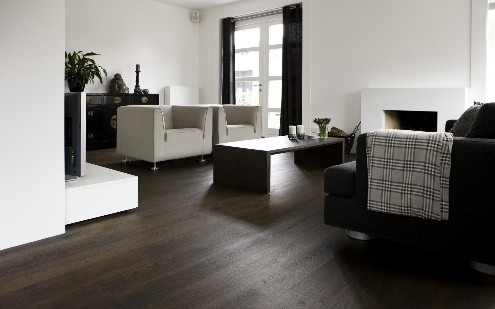 Eiken houten vloer zonder velling De eiken houten vloer