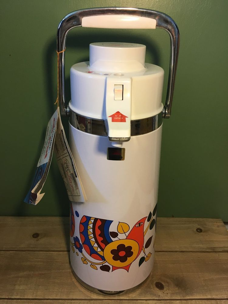 Vintage Retro Birds 1 9 L Sunrise Air Pot Hot Cold Thermos