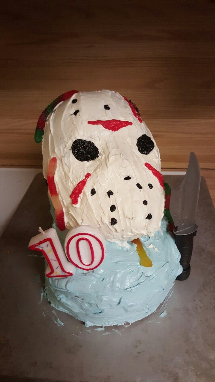 Jason Voorhees Birthday Cake Cakes Ive Made Pinterest