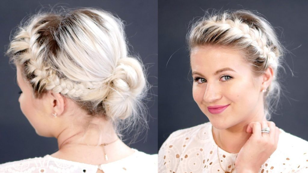 11 Elegant French Braid Bun Frisuren Short Hair Styles Hair