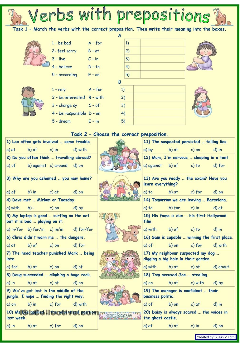 worksheet News 2 You Worksheets verbs with prepositions 2 for intermediate and advanced learners key fully editable worksheet free esl prin