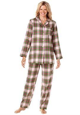 Plus Size Plaid Flannel Pjs Plus Size Sleepwear Plus Size Women Flannel Pajama Sets
