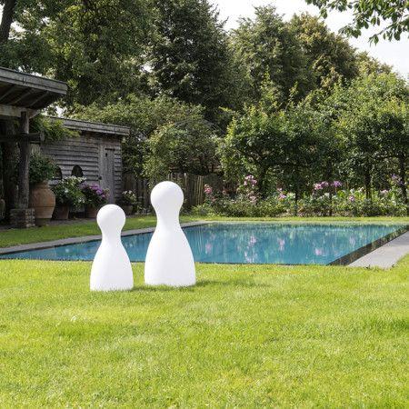 Außenleuchte Pawn 62 weiß. #außenleuchte #außenlampe #gartenleuchte #spielfigur #dekorativ