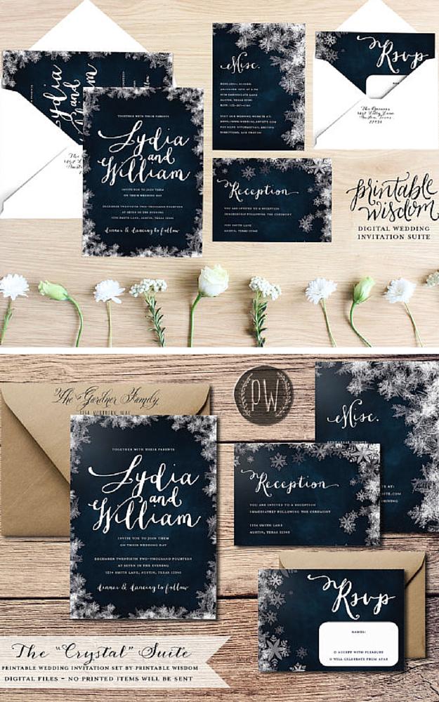 793630da922e773a033dcd1b24c6bfa7 custom wedding invitation kits wedding, diy wedding invitation,Winter Wedding Invitation Kits