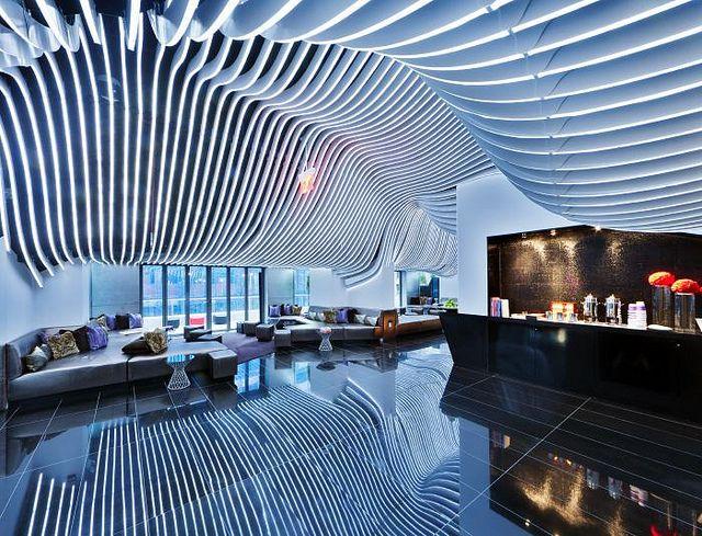 Futuristic Interior W New York Downtown Hotel Residences Future Architecture Http Futuristicnews Futuristic Interior Downtown Hotels Ceiling Design