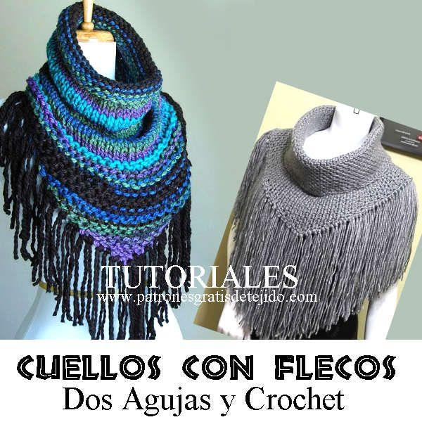 cuellos terminados en picos para tejer en tricot y ganchillo ...