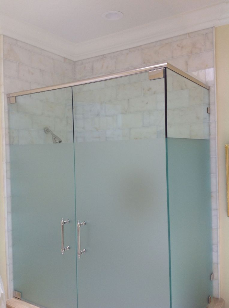 New upstairs bathroom 3 4 frosted glass shower door - Bathroom vanity with frosted glass doors ...