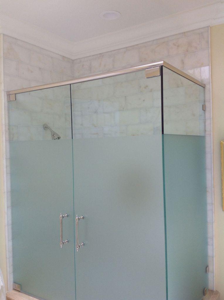 New Upstairs Bathroom 3 4 Frosted Glass Shower Door