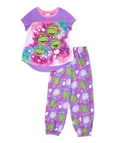 830df6f7d Look at this TMNT Purple Pajama Set - Girls on  zulily today!