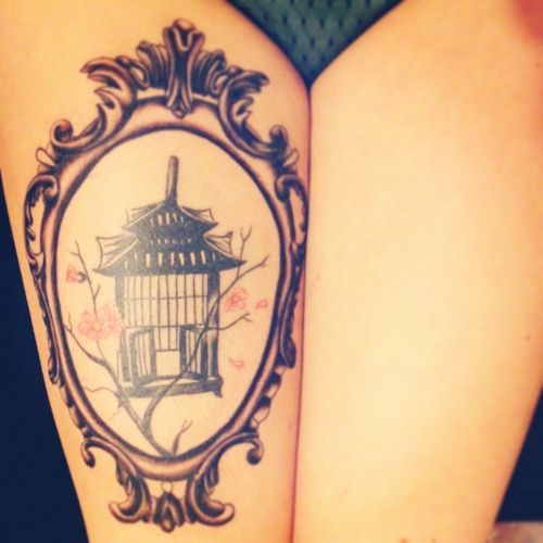 Old Fashioned Bird Cage Tattoo Google Search Cage Tattoos Framed Tattoo Birdcage Tattoo