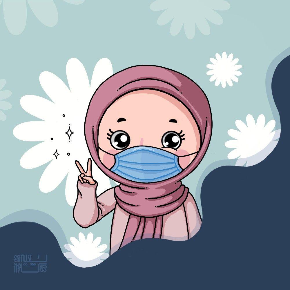 Hijab Girl Ilustrasi Karakter Kartun Boneka Hewan